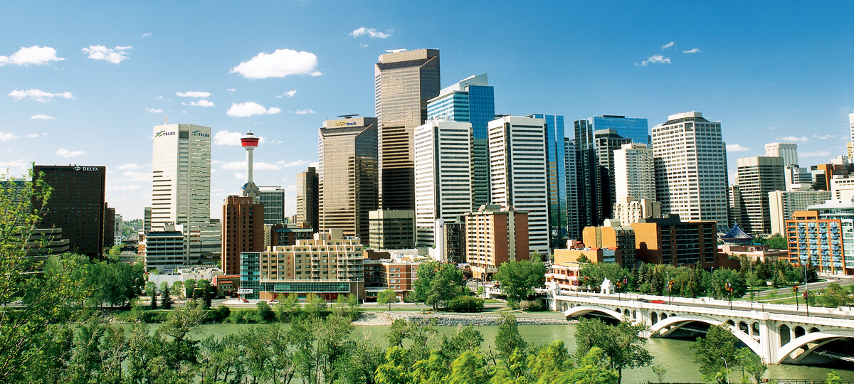 calgary conference, downtown buildings