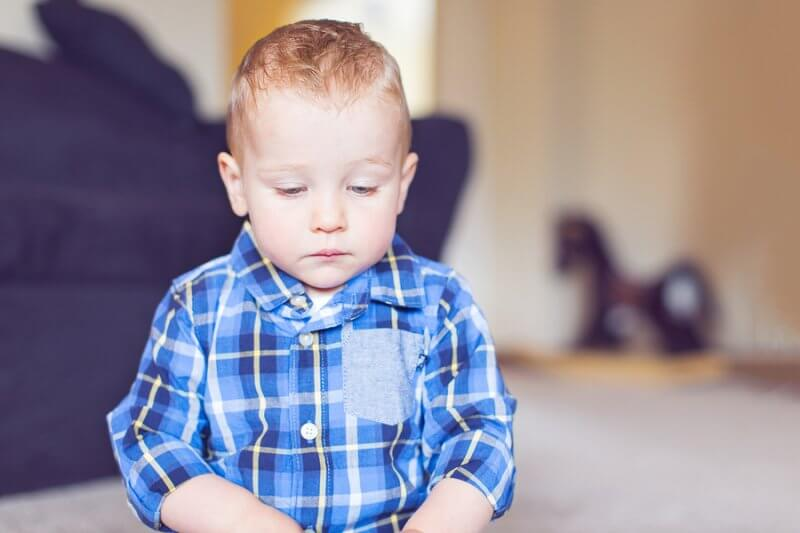 waiting for an autism diagnosis: little boy with autism