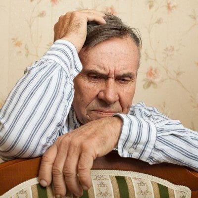 Elderly man with autsim
