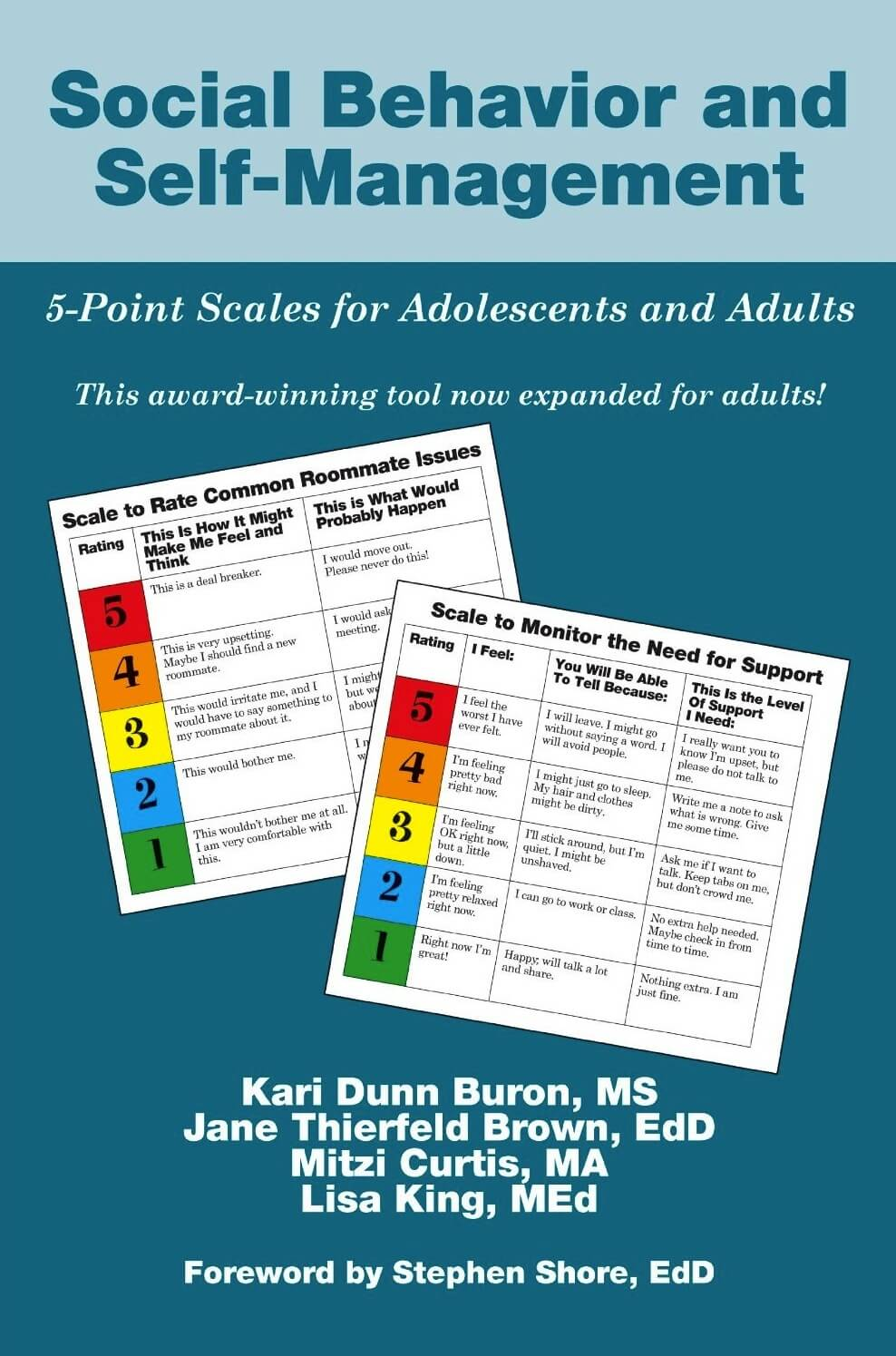 Social Behavior And Self Management 5 Point Scales For Adolescents And Adults Autism Awareness