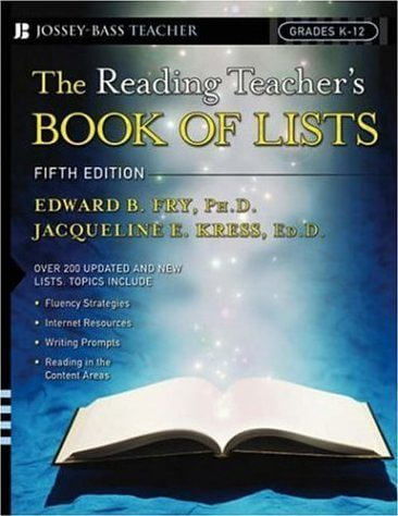 The Reading Teacher's Book of Lists (5th ed.)