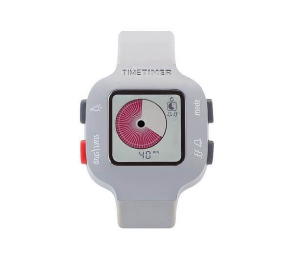 Time Timer Watch Plus - Youth (Light Grey)